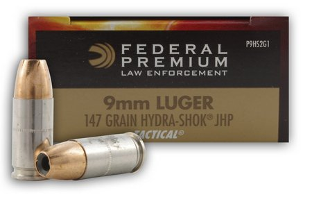 Federal Hydra Shok 9mm defense ammo