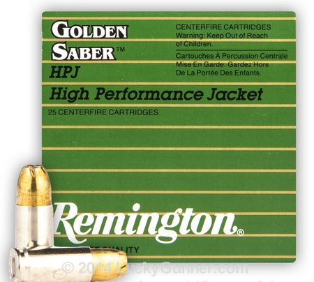 Remington Golden Saber 9mm defense ammo
